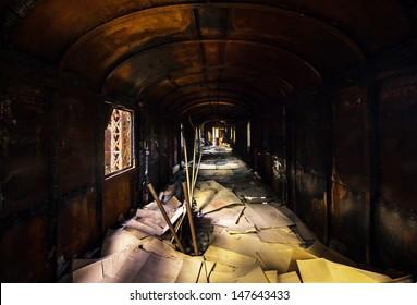 Industrial carriage interior in dark colors