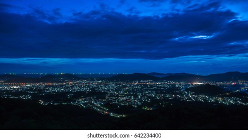 Industrial City in night time
