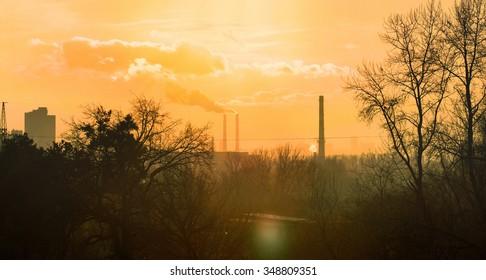 industrial cityscape - Shutterstock ID 348809351