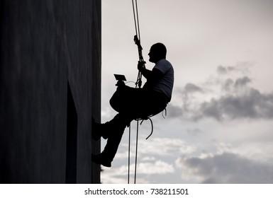 Industrial climber worker