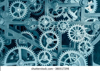 Industrial clock transmission gear set details