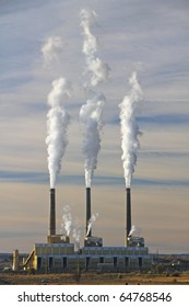 An industrial coal power plant in the morning