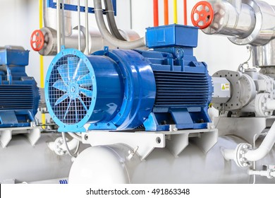 industrial compressor refrigeration at manufacturing factory