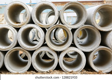 Industrial concrete pipe for building construction