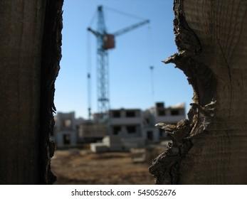 Industrial construction crane.