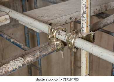 industrial construction work use scaffolding clamps in site