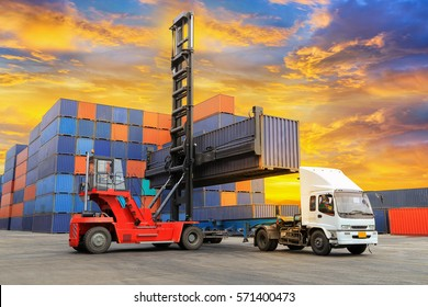 Industrial Container Cargo freight ship for Logistics Import Export.