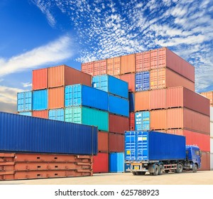Industrial Container yard for Logistic Import Export business