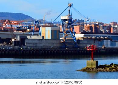 Industrial Dock with cranes