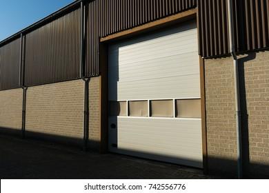 industrial door brown wall