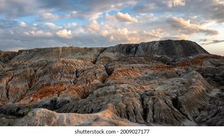 Industrieablagerungen des Unternehmens, Uralsky Mars, Russland
