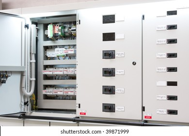 industrial electrical switch panel in factory