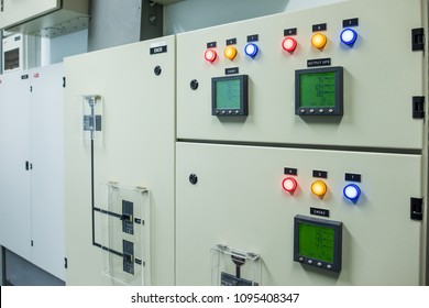 Industrial electrical switch panel of power plant. Control UPS Indoor High Voltage Vacuum DC Circuit Breaker. Power electric main distribution breaker (MDB) enclosure control panel circuit breaker.