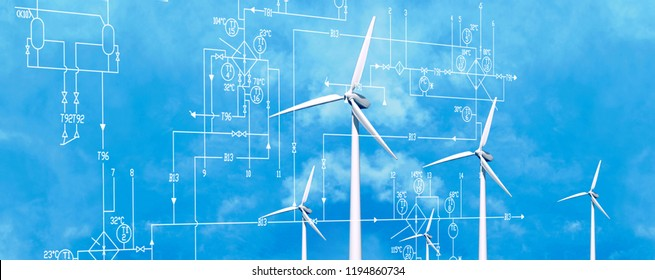 industrial energy clean wind concept
