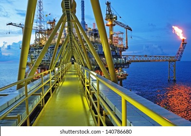 industrial. energy. power oil and gas concept. Offshore oil and rig construction.