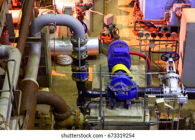 Industrial equipment. The electric pump.The interior of the fact
