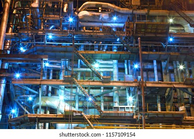 Industrial equipment. Factory. Interior