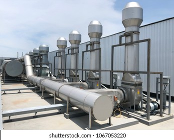 Industrial exhaust at rooftop