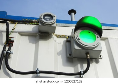 Industrial explosion-proof lantern, the light and sound alarm system at the fire