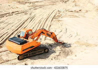 Industrial extraction of sand.
