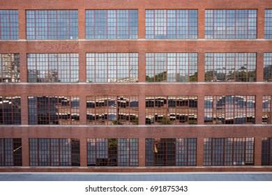 Industrial factory windows.