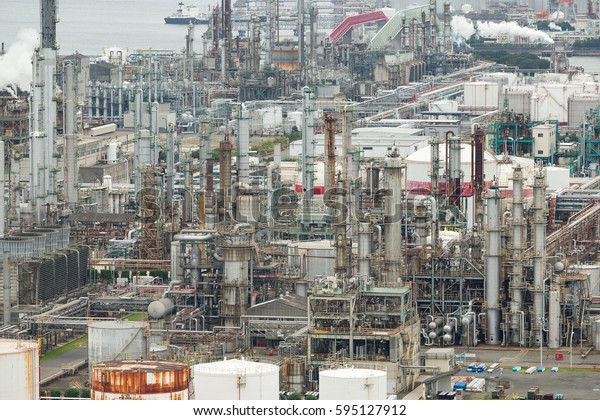 Industrial factory in Yokkaichi city