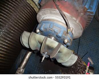The Industrial Fan Blade  Generator Electric Motor.