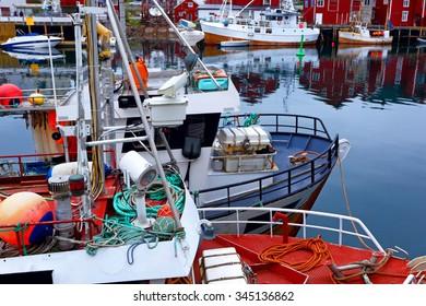 Industrial fishing. Fishing boats. Norway.