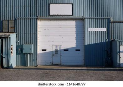 industrial garage with roll up door