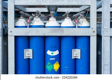 Industrial gas canisters.