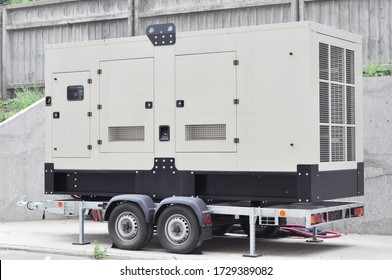 Industrial generator power. Mobile  backup power supply generator for emergency.