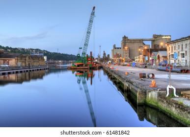 Industrial harbor in Cork - HDR - Ireland