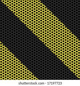 Industrial hazard grille tiles seamlessly