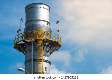 Industrial Heat recovery steam exhaust stack, Boiler stack.