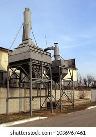 Industrial hoods of a construction combine