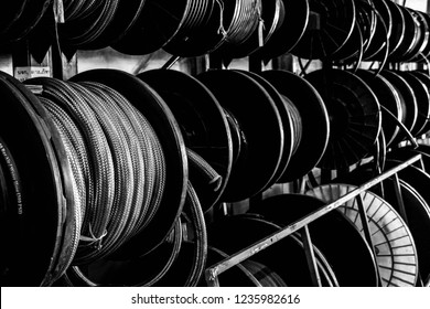 industrial hose black and white
