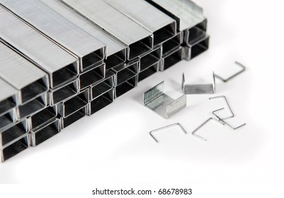industrial image of several Staples isolated in white