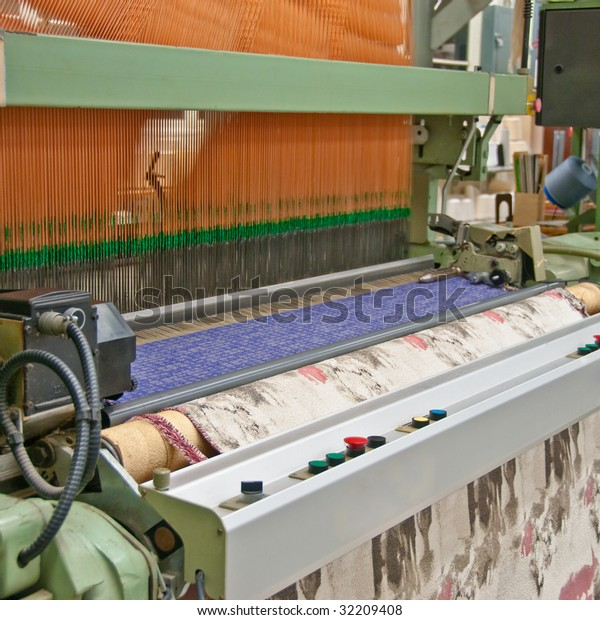 Industrial Jacquard Weaving Loom Stock Photo (Edit Now) 32209408