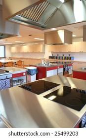 industrial kitchen in  college