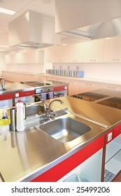 industrial kitchen in special college