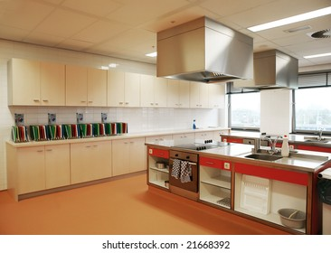 industrial kitchen in special college for education