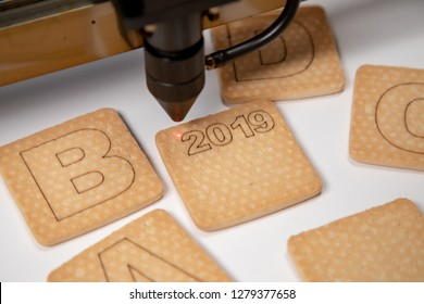 Industrial laser engraving number