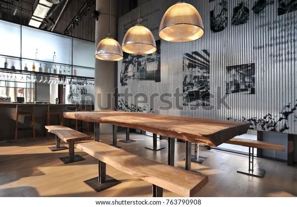 Industrial loft bar style