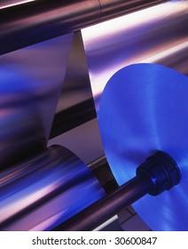 industrial machine with aluminum foil