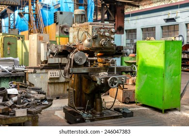 Industrial machine  in the factory at metalworks