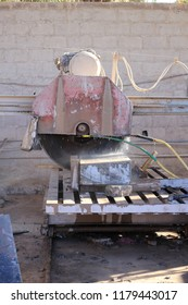 Industrial Machine saw for cutting slabs of rock into smaller pieces