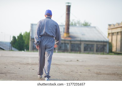 industrial manufacturing factory worker going to work