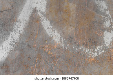 Industrial metal texture with natural defects. Rust, scratches, cracks, stains, grunge. Can be used as a background or poster for an inscription.