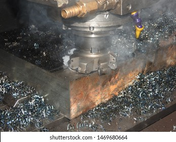industrial metalworking cutting process by milling cutter and  Surface scanning of large metals in cnc and milling process