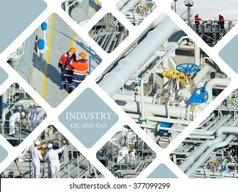 Industrial. Oil And Gas Industry. Work on the gas tanker safety monitor. Industrial concept